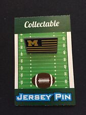 Michigan Wolverines lapel pin-Classic Flag Collectable-Great Gift-Go Big Blue!