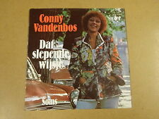 45T SINGLE WITH CAR COVER / CONNY VANDENBOS - DAT SLEPENDE WIJSJE