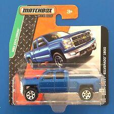 2014 Matchbox BLUE 2014 V8 CHEVROLET SILVERADO 1500 pickup mint on short card!