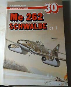 Me 262 Schwalbe Pt.1 - AJ Press - Monograph - 72nd sclae plans + colour plates