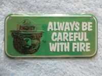 USFS US Forest Service NEW Smokey Bear Blue Bicycle License Plate Metal Sign