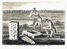 """1783 ANTIQUE PRINT """"Monk's Stone horreur pour tuer un homme"""" de Tynemouth TINMOUTH (R120)"""