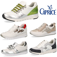 Ladies Trainers Caprice White Leather Lace Up Soft Comfort Size Walking on Air