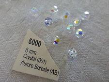 lot 10 perles ancienne en cristal de SWAROVSKI  AB diam 8mm
