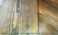 """Vintage Pine Flooring prefinished 6"""" 8"""" Antique brown heart pine hand rubbed oil"""
