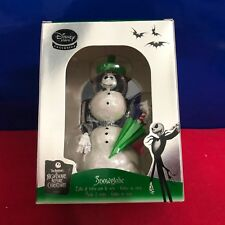 Disney Nightmare Before Christmas Santa Jack Skellington Mini Snowglobe Dd