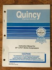 Quincy Air Compressor Instruction Manual For Qt Amp Plt Series 1997 Vtg