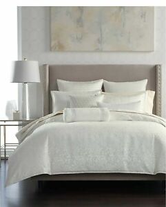 New Hotel Collection Plume Ivory Jacquard King Duvet Cover