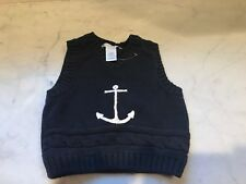 Janie and Jack Anchor Sweater Vest - 3-6 months