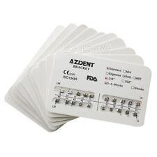 10X AZDENT Dental Orthodontic Metal Brackets Standard Roth Slot.018 Hooks 3-4-5