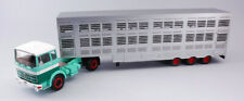 Mercedes lps 1632 green/beige 1970 cow transporter 1:43 camion scala ixo