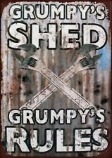 Grumpy - Grumpy's Shed Rules Metal Sign