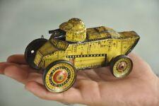 Vintage Wind Up MT Trademark Litho Double Gun Sparkle Tin War Tank Toy,Japan