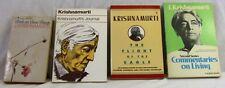 Vintage Lot of 4 KRISHNAMURTI THEMED BOOKS New Age Philosophy Religion Reading