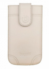 ORIGINAL Bugatti Slim XL Case Universal Apple Samsung HTC Genuine Leather Ivory