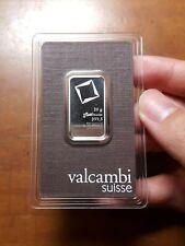 20 gram Platinum Bar Valcambi Suisse