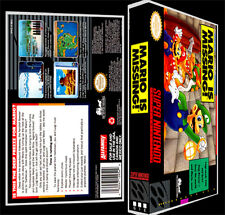 Mario Is Missing - SNES Reproduction Art Case/Box No Game.