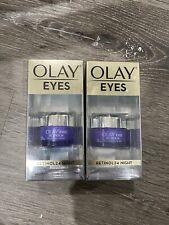2 Pack Olay Eyes Retinol 24 Night Eye Cream - 0.5oz 15ml
