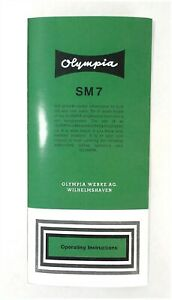 User Manual for An Olympia SM7 Typewriter
