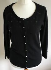 Klass Collection Size M, Ladies Long Sleeve Black Cardigan With Sequin Detail