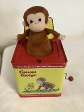 Curious George Jack In The Box Toy Schylling Metal Tin Box Pop Goes The Weasel
