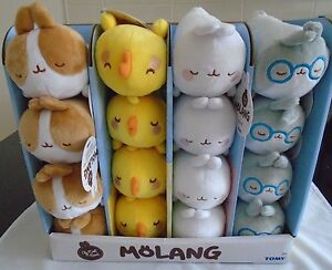 MOLANG by TOMY - COLLECTABLE PLUSH FIGURES - CHOOSE CHARACTER - NEW