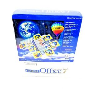 Corel Office 7 Professional PC Program CD-ROM Version New and Sealed in Box