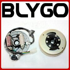 Magneto Stator Plate + Flywheel Set 110cc 125cc Kick Start PIT PRO Dirt Bike