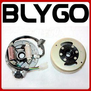 Magneto Stator Plate + Flywheel Set 110cc 125cc Kick Start PIT PRO Dirt Bike