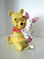 """Vtg Disney Winnie The Pooh Animated with Piglet Cookie Jar/Canister 11"""" Tall"""