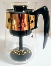 Corning Pyrex Glass 6 Cup Percolator Mid Century Modern Kitchen Vintage