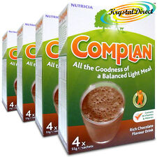 4x Complan Chocolate Nutrition Vitamin Protein Supplement Energy Drink 4x55g