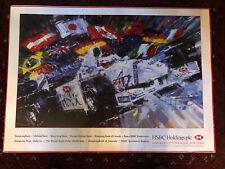 Sir Jackie Stewart Large Autograph Poster Leroy Neiman HSBC Jaguar Formula One