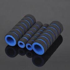 2PCs Motorcycle Bike Handle Bars Covers Nonslip Blue Soft Sponge Foam Grips Hot