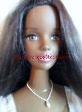 MATTEL original My Size Barbie~AA dark skin Princess~white & gold gown FREE SHIP