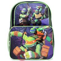 "TMNT Teenage Mutant Ninja Turtles 16"" Large School Backpack Book Bag-Hold Weapon"