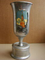 Russian Soviet cup design by Deineka LACQUER ART painting Kremlin Moscow metal