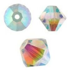 Swarovski Crystal Bicone Crystal AB 2X 6mm. Approx. 48 PCS. 5328