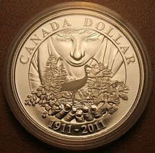 2011 Brilliant Uncirculated Silver Dollar 100th Anniversary of Parks Canada