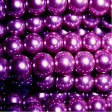 50 pieces 10mm Glass Pearl Beads - Dark Purple - A1230