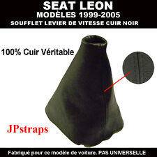 SOUFFLET LEVIER DE VITESSE CUIR NOIR VÉRITABLE SEAT LEON 1999 - 2005