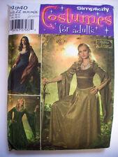 4940 Renaissance Medival bellowing sleeved dress costume pattern Misses size 26