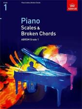 ABRSM Grade 1 Scales and Broken Chords Piano 9781860969133 Exam Music Book