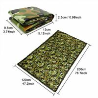 Camouflage Survival Sleeping Bag Outdoor Camping Hiking Envelope Waterproof Warm