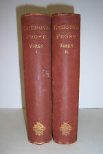 THE PROSE WORKS of Ralph Waldo Emerson. 2 Volume Set. Fields, Osgood Co. 1870