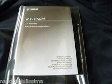 Yamaha RX-V1600 des Besitzers Manuell operating Anleitung neu