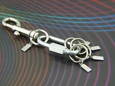 NEW Designer Keychain with Detachable Key rings Key Holder Secure Clip-on ID tag