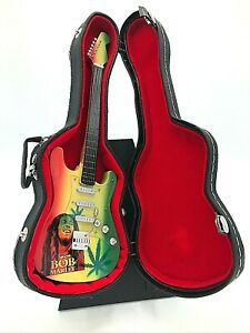 Miniature Fender Stratocaster Guitar - Bob Marley - (Includes Hard Case)