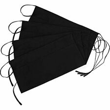 4 Pack 3 Pockets Waitress Apron, 24 X 12 Inches Waist Aprons Home And Kitchen,