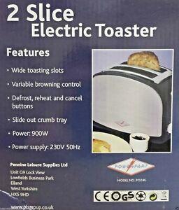 Low Wattage Caravan Toaster 900watts - Chrome  - Caravan / Motorhome       PO246